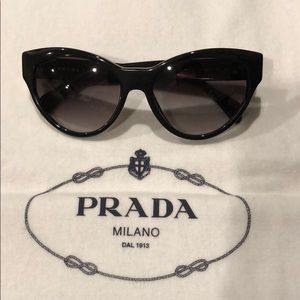 AUTHENTIC PRADA Black Sunglasses
